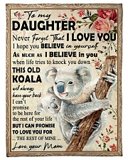 """Koala Mom To Daughter Never Forget Small Fleece Blanket - 30"""" x 40"""" front"""
