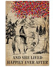 She Lived Happily Horse Dog Dictionary 11x17 Poster front