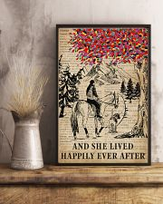 She Lived Happily Horse Dog Dictionary 11x17 Poster lifestyle-poster-3
