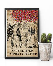She Lived Happily Horse Dog Dictionary 11x17 Poster lifestyle-poster-8
