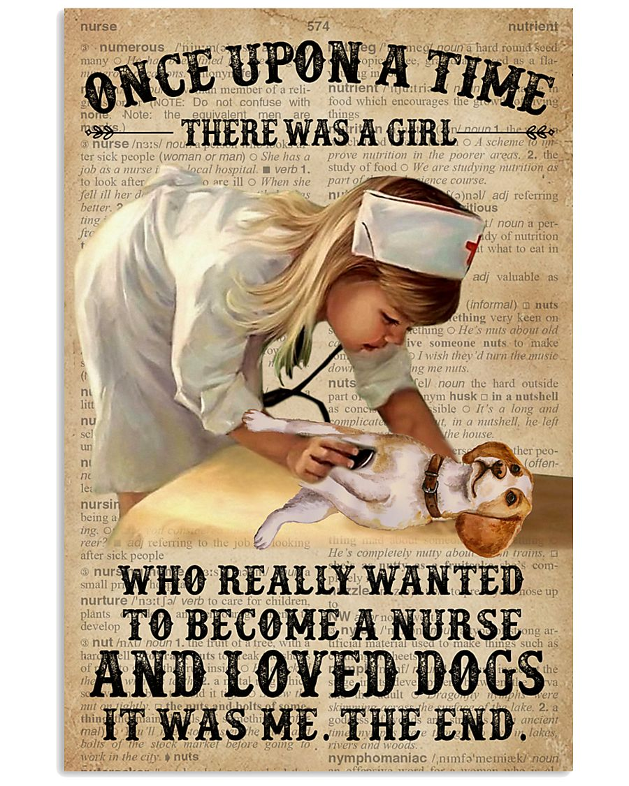 Baby Girl Nurse And Dog Beagle 11x17 Poster