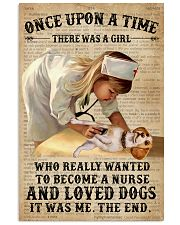 Baby Girl Nurse And Dog Beagle 11x17 Poster front