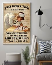 Baby Girl Nurse And Dog Beagle 11x17 Poster lifestyle-poster-1