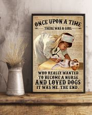 Baby Girl Nurse And Dog Beagle 11x17 Poster lifestyle-poster-3