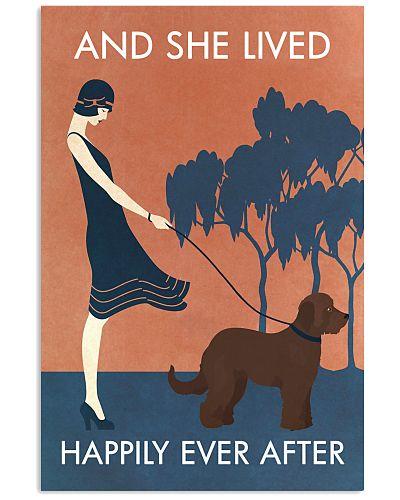 Vintage Girl She Lived Happily Goldendoodle