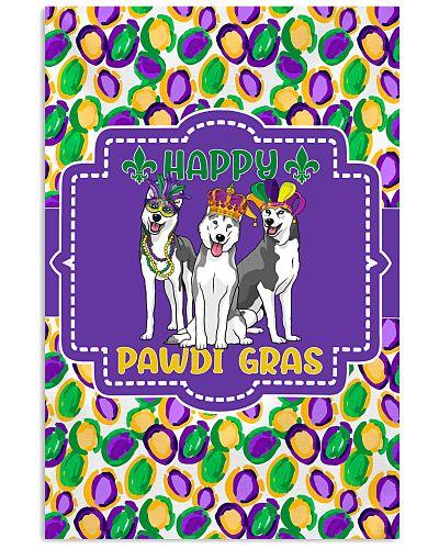 Funny Pawdi Gras Huskies