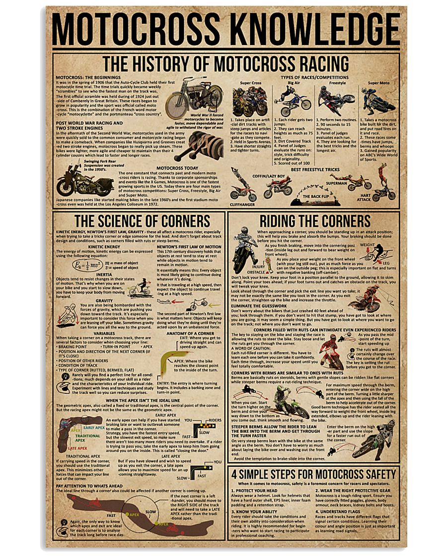 Motocross Knowledge 11x17 Poster