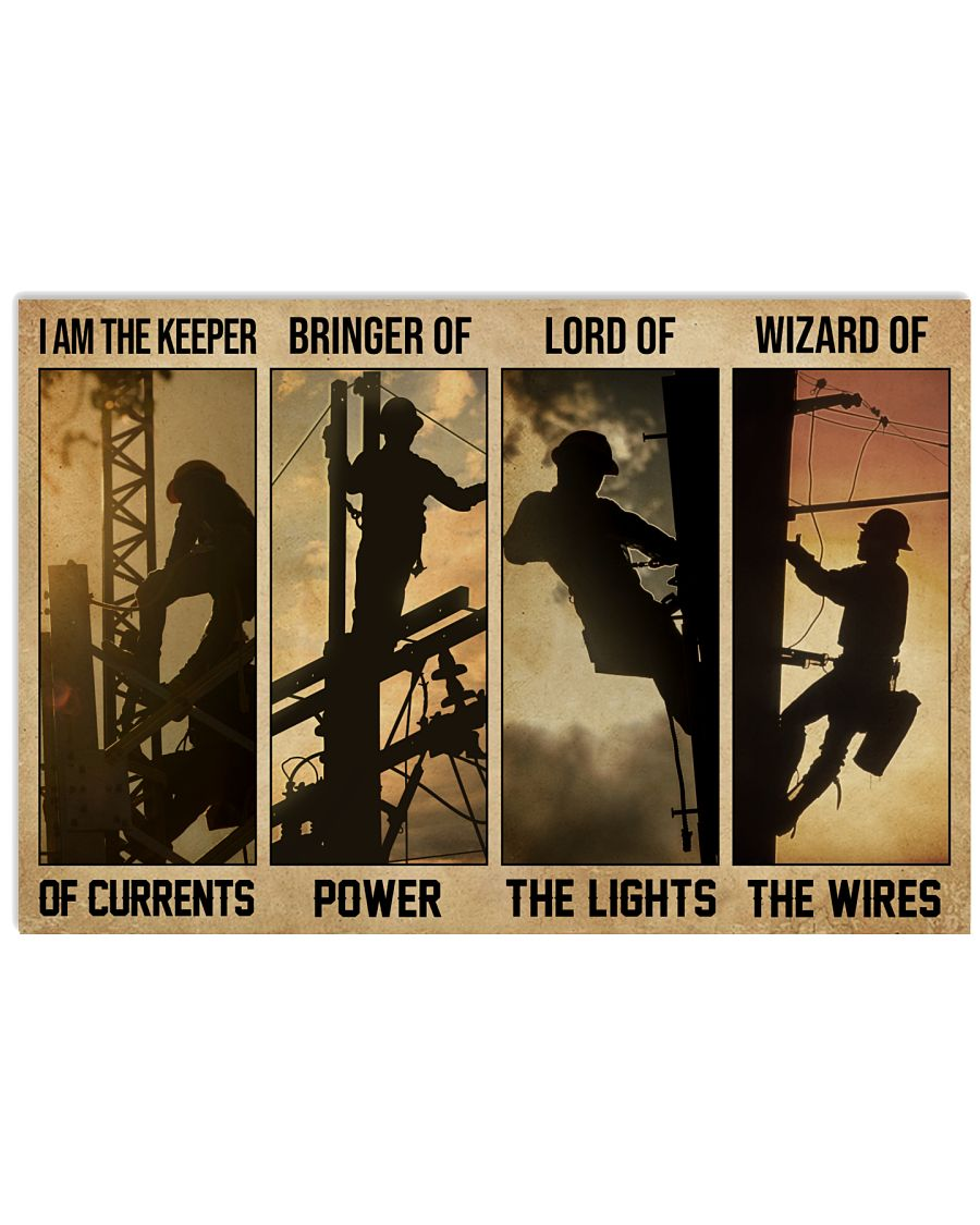 Electrician I Am The Keeper Of Currents 24x16 Poster