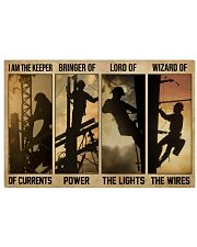 Electrician I Am The Keeper Of Currents 24x16 Poster front
