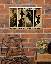 Electrician I Am The Keeper Of Currents 24x16 Poster poster-landscape-24x16-lifestyle-24