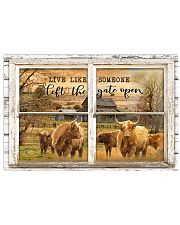Window The Gate Open Highland Cattle 24x16 Poster front