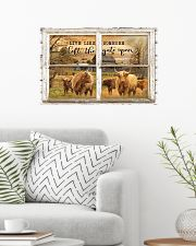 Window The Gate Open Highland Cattle 24x16 Poster poster-landscape-24x16-lifestyle-01