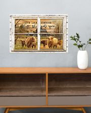 Window The Gate Open Highland Cattle 24x16 Poster poster-landscape-24x16-lifestyle-25
