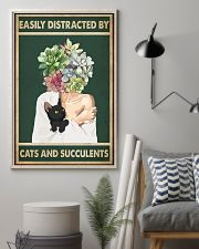 Easily Distracted By Cat And Succulents 11x17 Poster lifestyle-poster-1