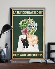 Easily Distracted By Cat And Succulents 11x17 Poster lifestyle-poster-2