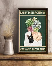 Easily Distracted By Cat And Succulents 11x17 Poster lifestyle-poster-3