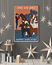 Vintage Girl And She Lived Happily With Horse 16x24 Poster lifestyle-holiday-poster-1