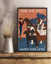 Vintage Girl And She Lived Happily With Horse 16x24 Poster lifestyle-poster-3
