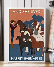 Vintage Girl And She Lived Happily With Horse 16x24 Poster lifestyle-poster-4