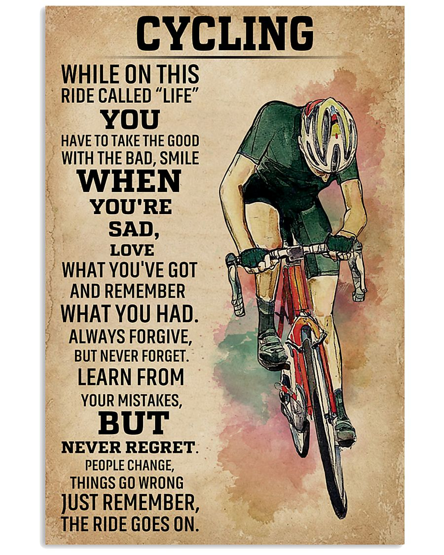 While On This Ride Called Life Cycling 11x17 Poster