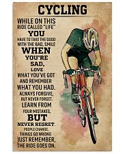 While On This Ride Called Life Cycling 11x17 Poster front