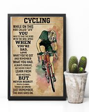 While On This Ride Called Life Cycling 11x17 Poster lifestyle-poster-8