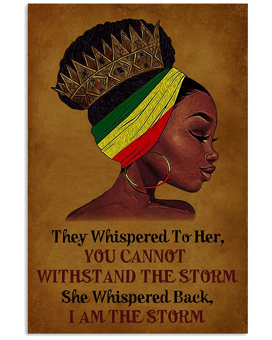 I Am The Storm Black Girl 11x17 Poster