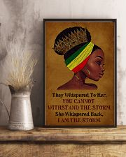 I Am The Storm Black Girl 11x17 Poster lifestyle-poster-3