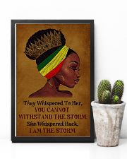 I Am The Storm Black Girl 11x17 Poster lifestyle-poster-8