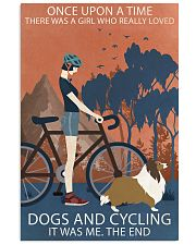Vintage Once Upon A Time Shetland Sheepdog Cycling 11x17 Poster front