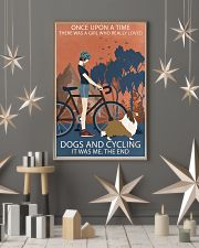 Vintage Once Upon A Time Shetland Sheepdog Cycling 11x17 Poster lifestyle-holiday-poster-1