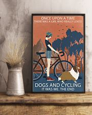 Vintage Once Upon A Time Shetland Sheepdog Cycling 11x17 Poster lifestyle-poster-3