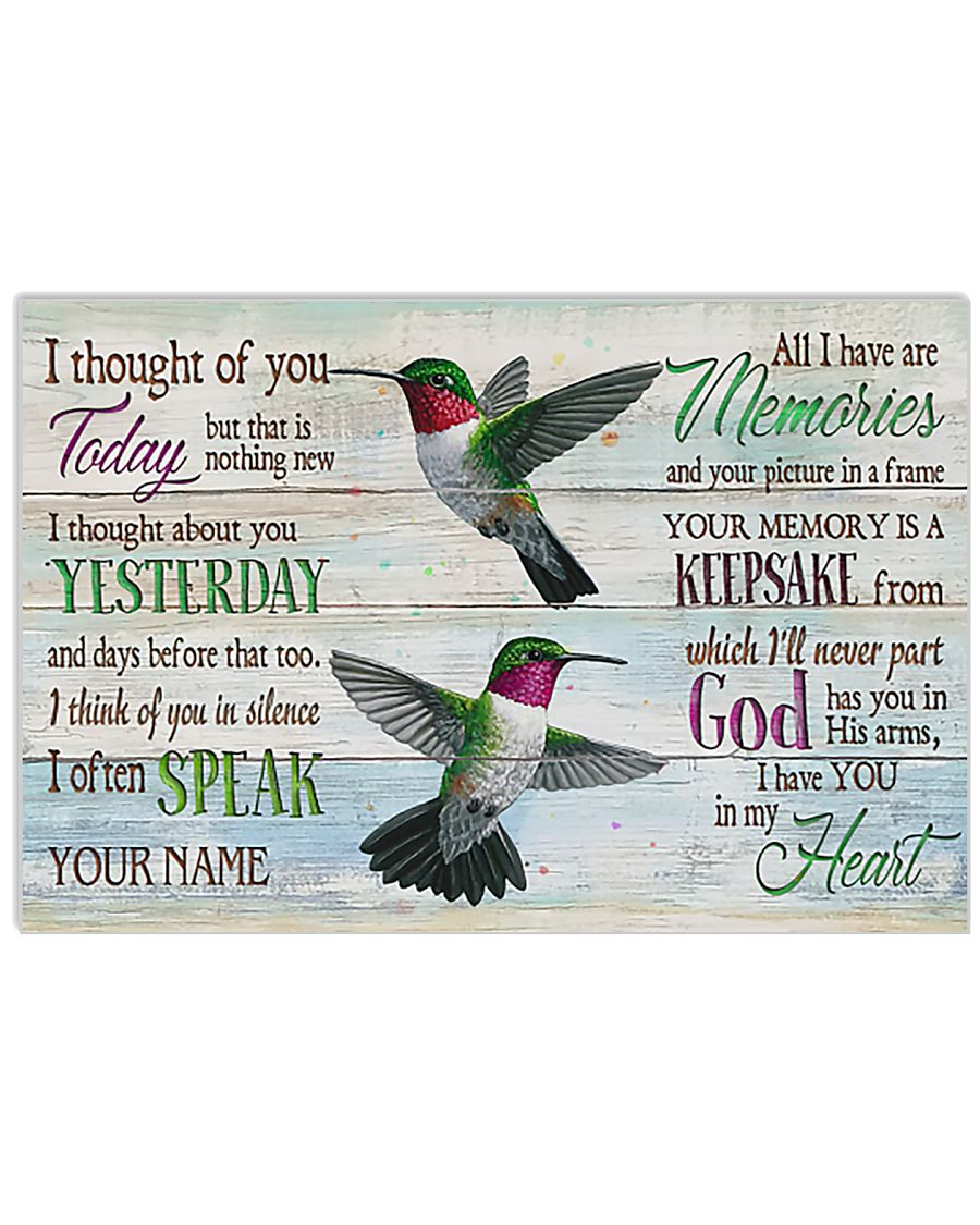 Hummingbird I Thought Of You Today 17x11 Poster