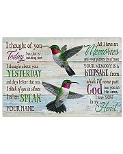 Hummingbird I Thought Of You Today 17x11 Poster front