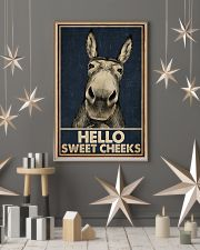 Navy Hello Sweet Cheeks Donkey 16x24 Poster lifestyle-holiday-poster-1