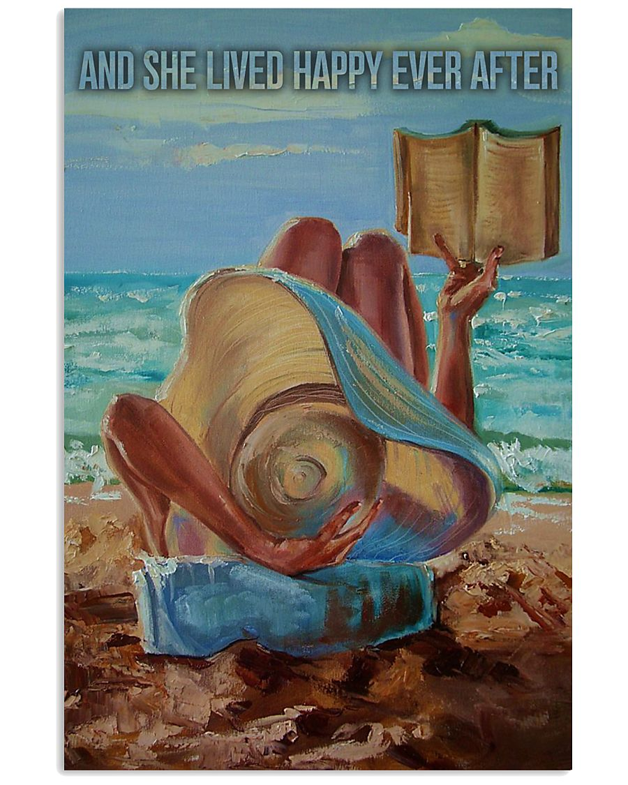 Beach Girl And She Lived Happily 16x24 Poster