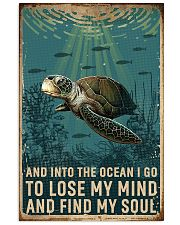 Retro Ocean Find My Soul Sea Turtle 11x17 Poster front