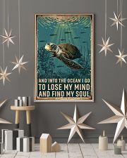 Retro Ocean Find My Soul Sea Turtle 11x17 Poster lifestyle-holiday-poster-1
