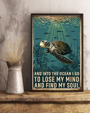 Retro Ocean Find My Soul Sea Turtle 11x17 Poster lifestyle-poster-3
