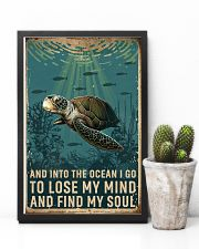 Retro Ocean Find My Soul Sea Turtle 11x17 Poster lifestyle-poster-8