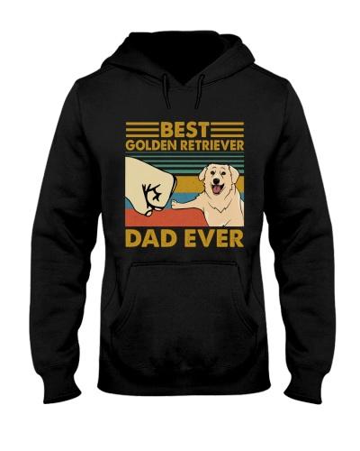 Retro Blue Golden Retriever Dad Ever