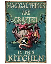 Retro Teal Magical Things Kitchen Dragon Witch 11x17 Poster front