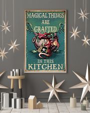 Retro Teal Magical Things Kitchen Dragon Witch 11x17 Poster lifestyle-holiday-poster-1