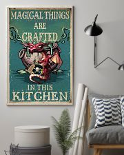 Retro Teal Magical Things Kitchen Dragon Witch 11x17 Poster lifestyle-poster-1