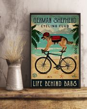Cycling Club German Shepherd 11x17 Poster lifestyle-poster-3