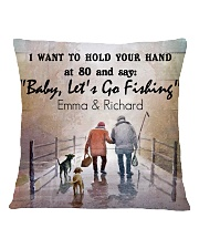 Personalized Fishing I Want To Hold Your Hand Square Pillowcase back