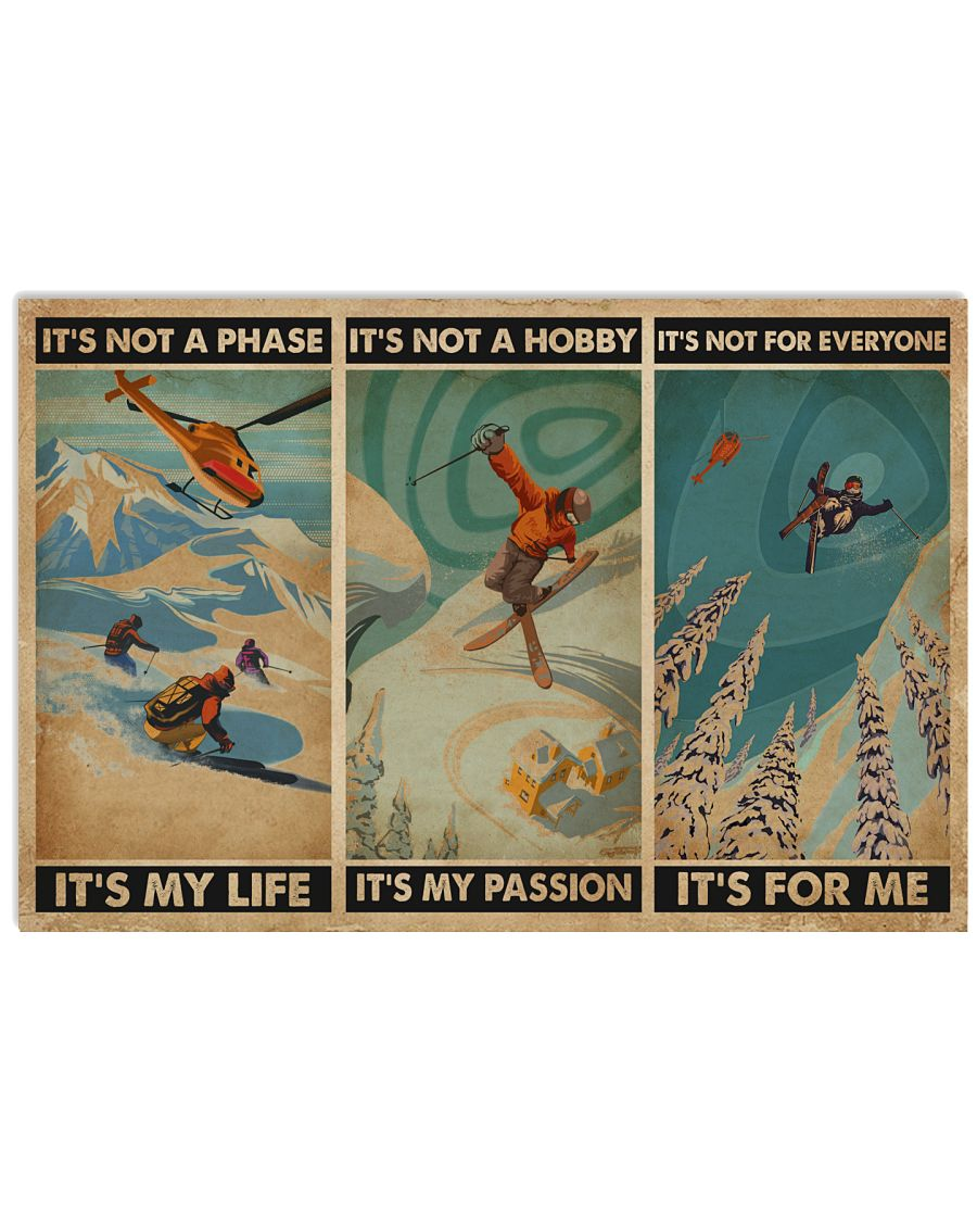 It's For Me Skiing 24x16 Poster