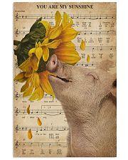 Music Sheet Sunflower My Sunshine Pig 16x24 Poster front