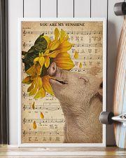 Music Sheet Sunflower My Sunshine Pig 16x24 Poster lifestyle-poster-4
