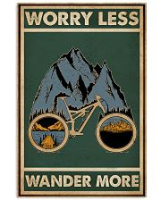 Retro Green Worry Less Cycling 11x17 Poster front